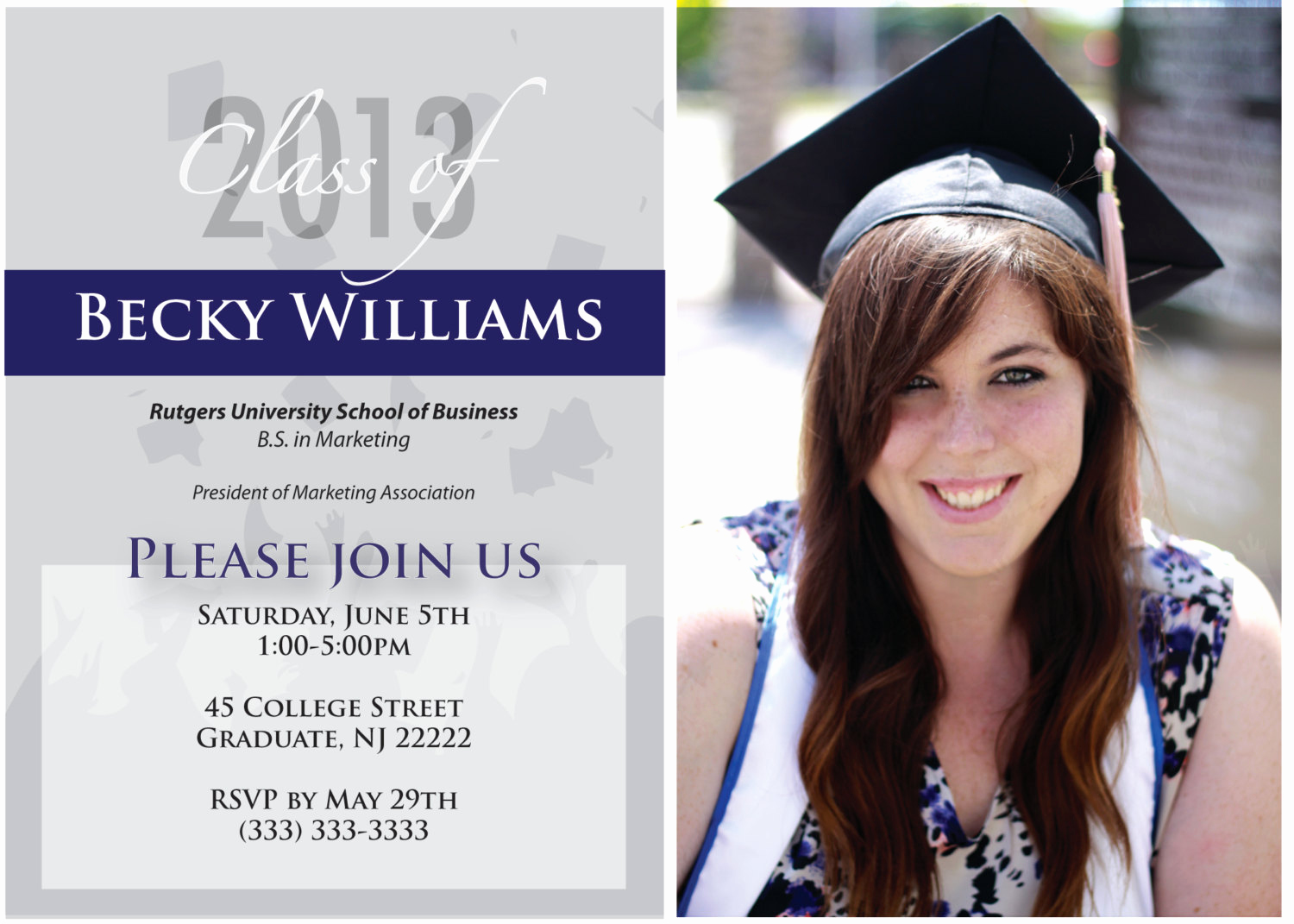 High School Graduation Invitation Cards Unique High School Graduation Announcement Quotes Quotesgram
