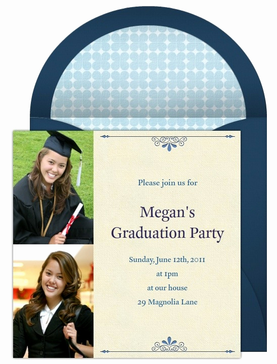 High School Graduation Invitation Elegant High School Graduation Invitations