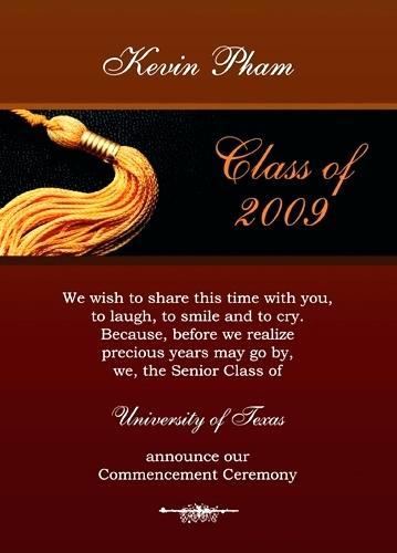 High School Graduation Invitation Etiquette Unique formal High School Graduation Announcements Invitations
