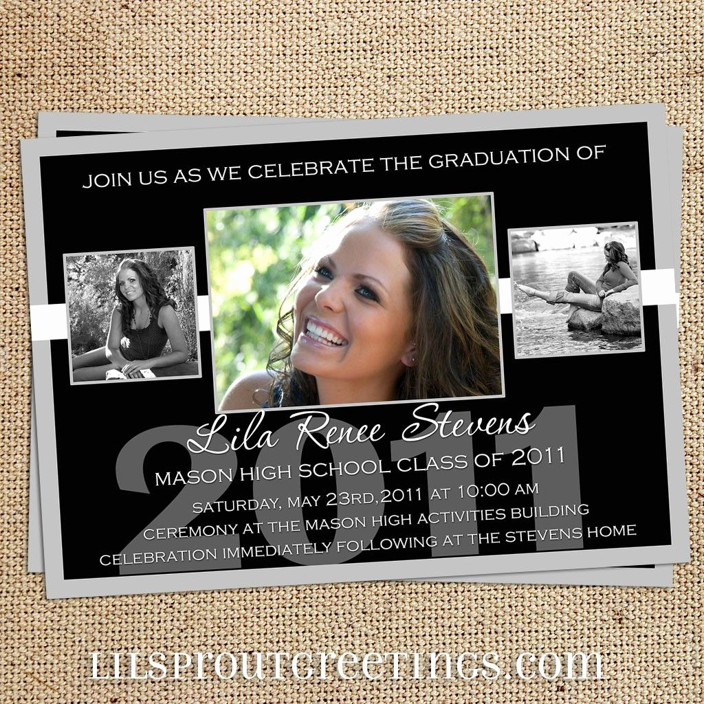 High School Graduation Invitation Ideas Elegant Black White Graduation Announcement Class Of 2019