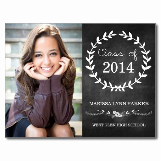 High School Graduation Invitation Ideas Luxury Laurel Graduation Party Invitation Postcard