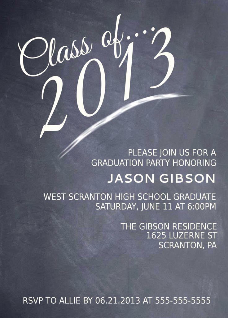 High School Graduation Invitation Quotes Awesome Printable Graduation Party Invitation Graduation