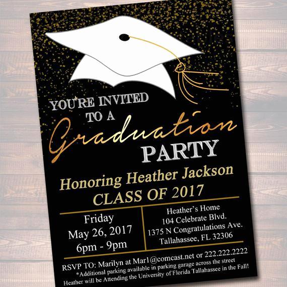 High School Graduation Invitation Quotes Unique Editable Graduation Party Invitation High School Graduation