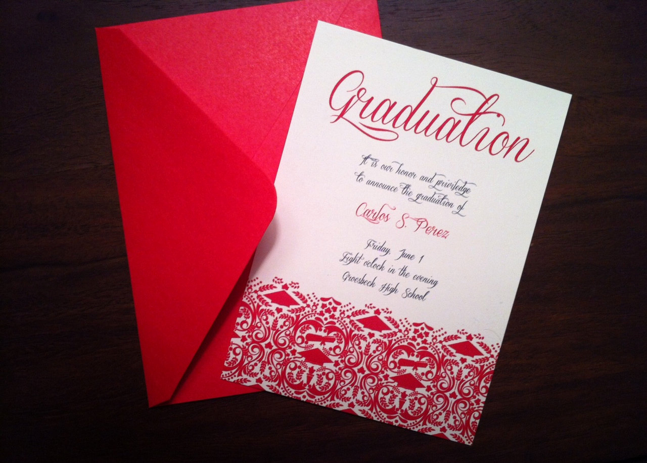 High School Graduation Invitation Templates Beautiful Diy Graduation Invitation Announcement High School College