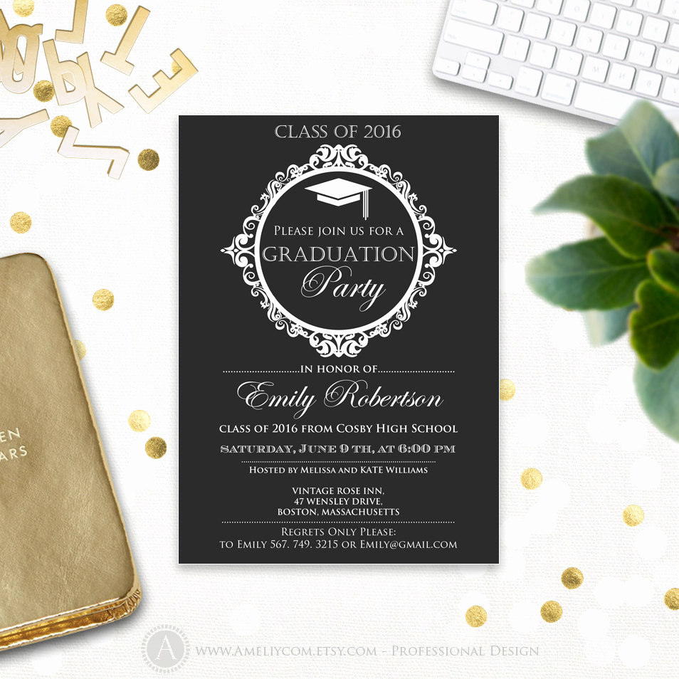 High School Graduation Invitation Templates Lovely Graduation Invitation Printable Template College Graduation
