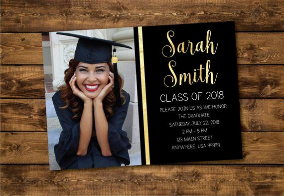 High School Graduation Invitation Templates Luxury Graduation Invitation Graduate 2018 High School Graduation