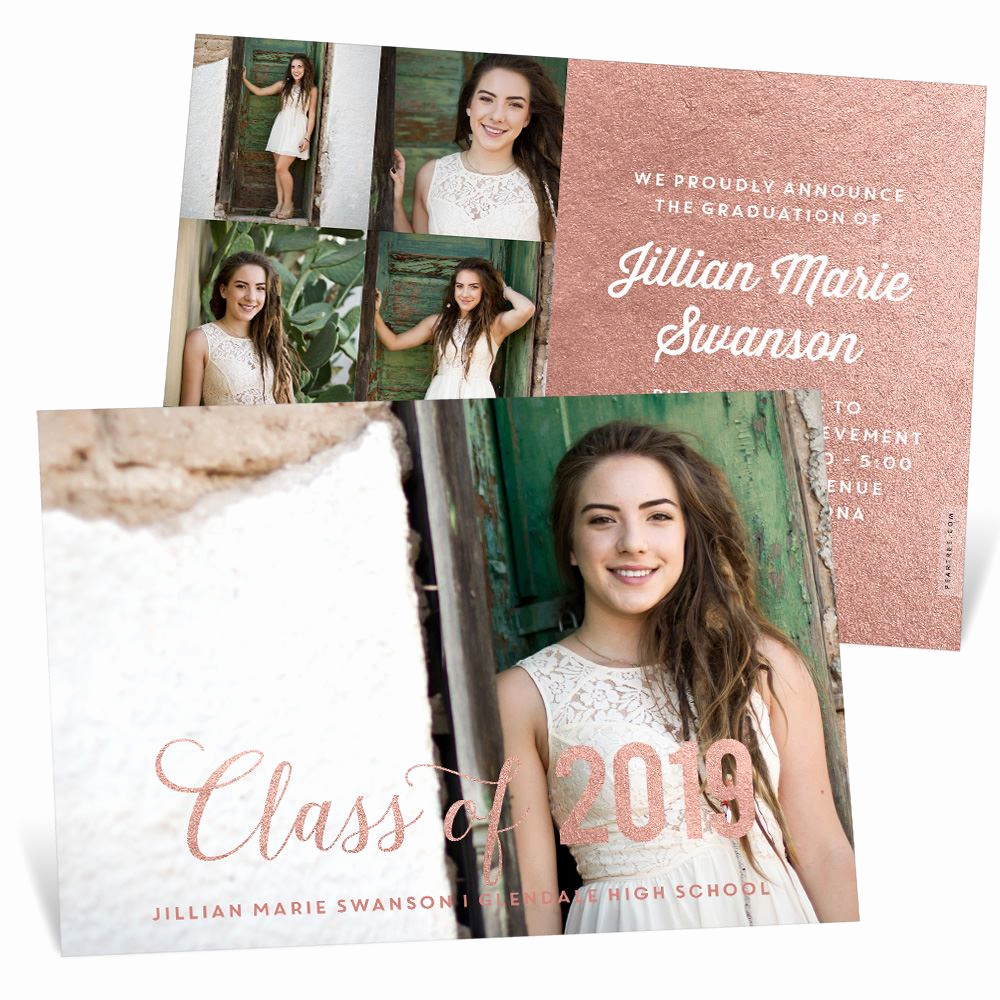 High School Graduation Invitation Unique Classic Scholar Graduation Announcements