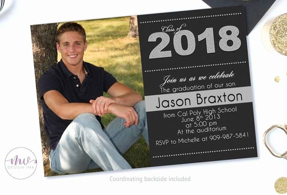 High School Graduation Invitation Unique Graduation Invitation Graduation Party Invitations High