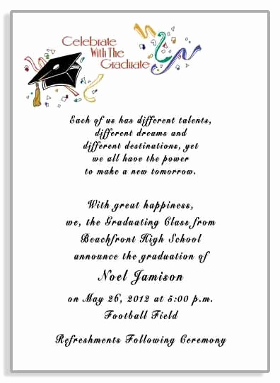 High School Graduation Invitation Wording Inspirational Graduation Party Invitations Announcements Item Grfb2901