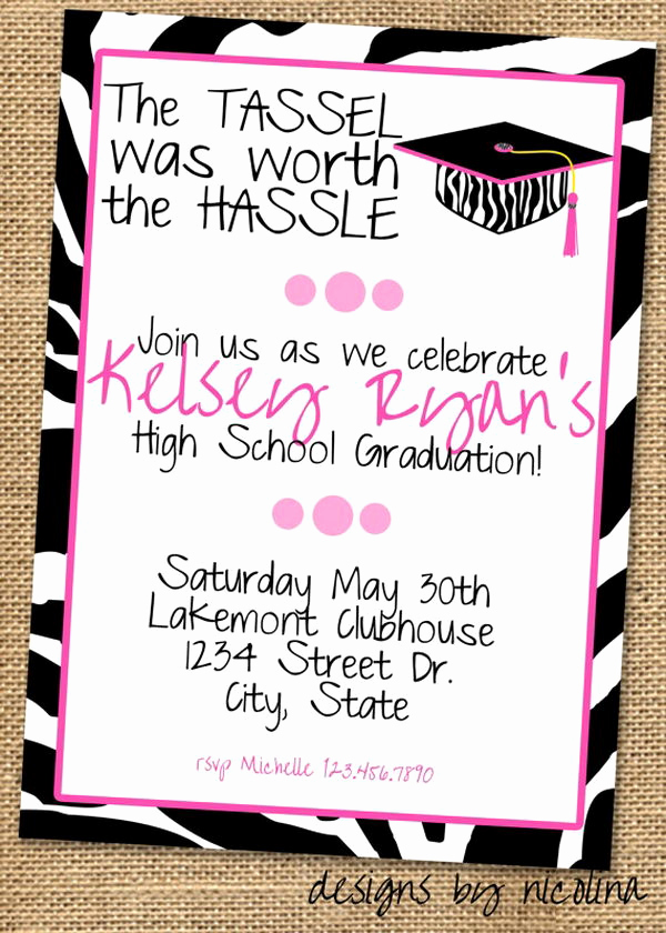 High School Graduation Invitation Wording Luxury 10 Creative Graduation Invitation Ideas Hative