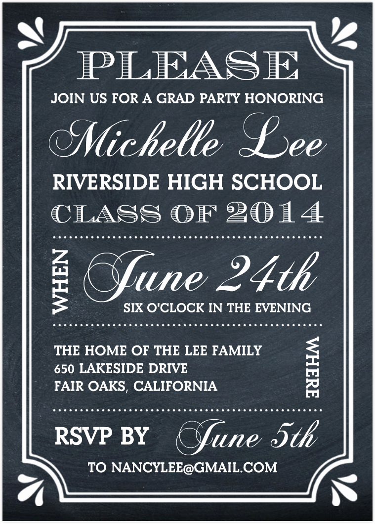 High School Graduation Invitation Wording Unique School Open House Invitation Templates