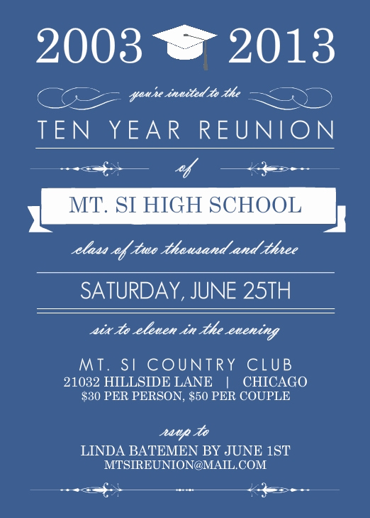 High School Reunion Invitation Template Best Of High School Reunion Wording Ideas Pmhs 50th