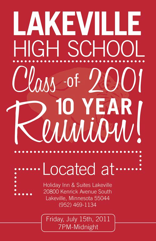 High School Reunion Invitation Template Best Of Lv High School Reunion Michael Long …