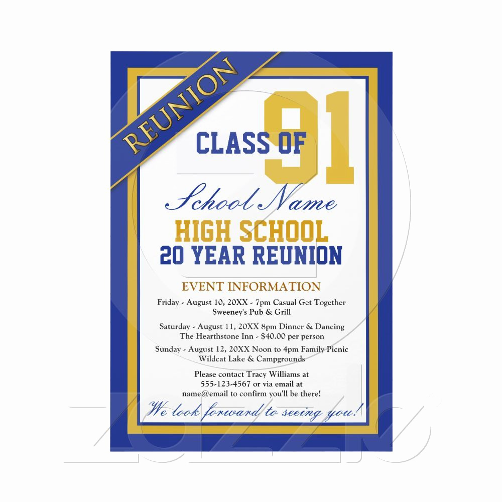 High School Reunion Invitation Template Elegant Classy formal High School Reunion Invitations