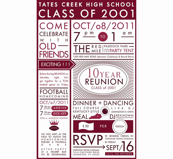 High School Reunion Invitation Template Elegant High School Reunion Invitation Reunion Ideas