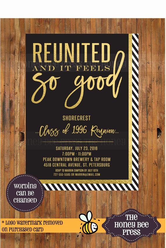 High School Reunion Invitation Template Fresh High School Reunion Invitation Reunited and It Feels so Good