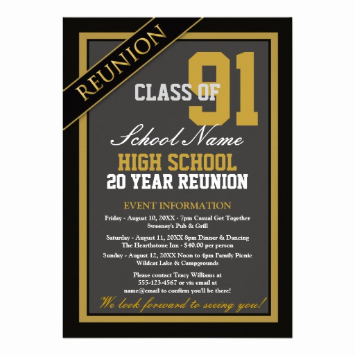High School Reunion Invitation Template Luxury Most Popular Reunion Party Invitations