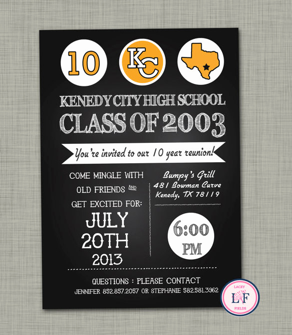 High School Reunion Invitation Template New 37 Invitation Templates Word Pdf Psd Publisher