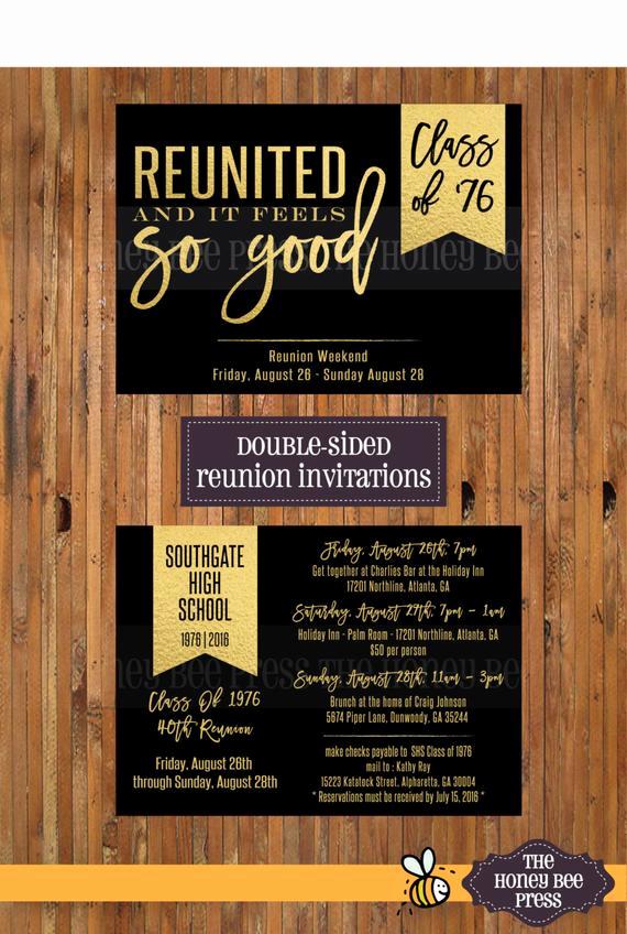 High School Reunion Invitation Wording Elegant Reunited and It Feels so Good High School Reunion Invitations