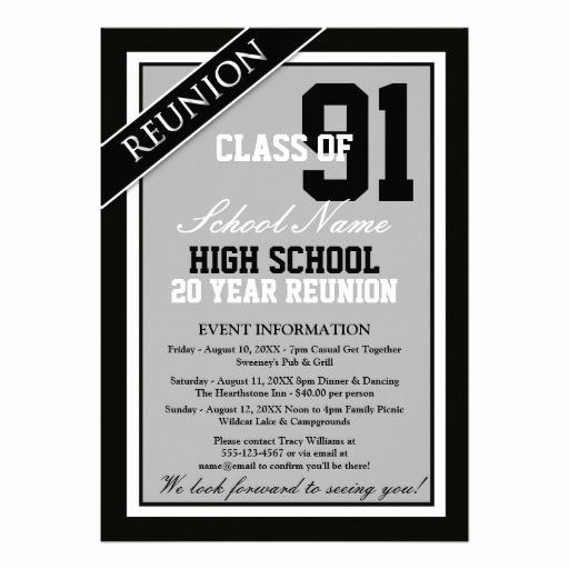 High School Reunion Invitation Wording Fresh Classy formal High School Reunion Custom Invitation