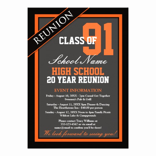 High School Reunion Invitation Wording Inspirational Classy formal High School Reunion 5x7 Paper Invitation