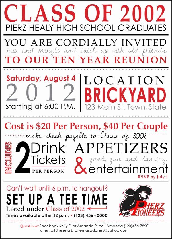 High School Reunion Invitation Wording Luxury Highschool Reunion Invitation by Kelly Barbot Via Behance