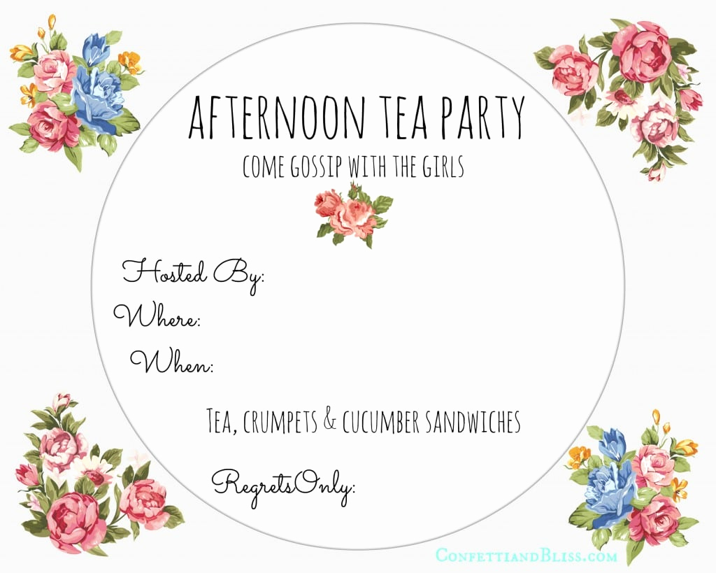 High Tea Invitation Template Awesome afternoon Tea Invitation Free