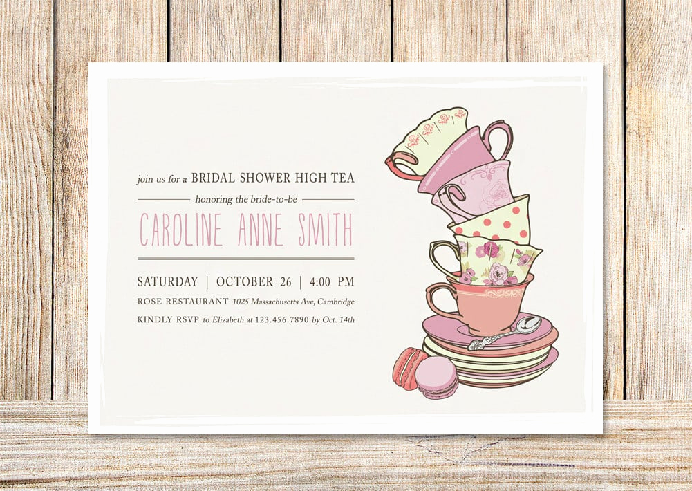 High Tea Invitation Template Beautiful afternoon Tea Invitation Templates