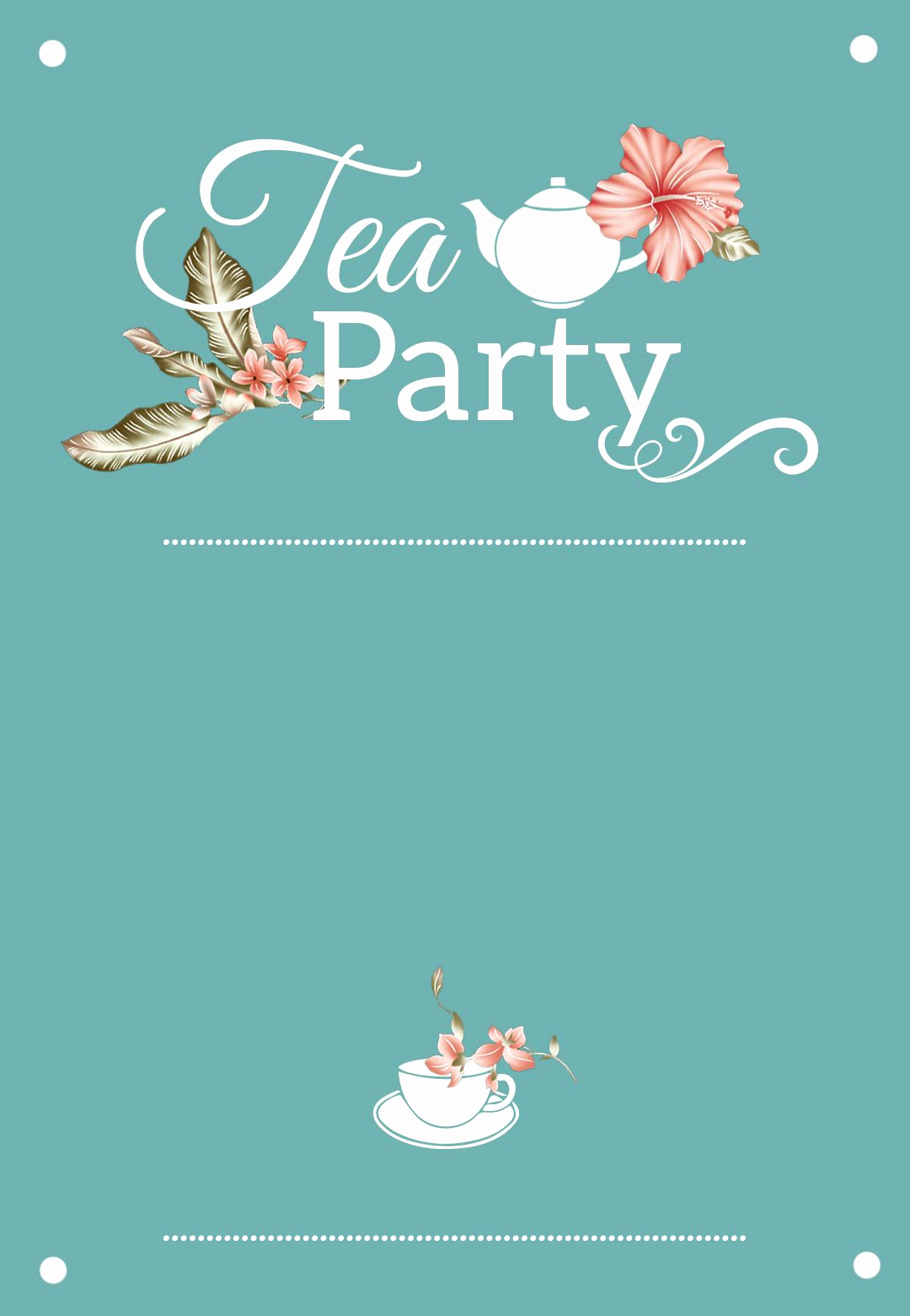 High Tea Invitation Template Beautiful Bridal Shower Tea Party Free Printable Bridal Shower