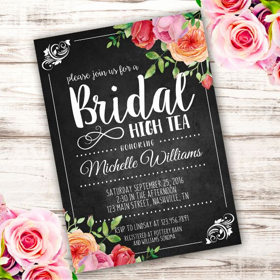 High Tea Invitation Template Best Of Bridal High Tea Invitation Template – Edit with Adobe