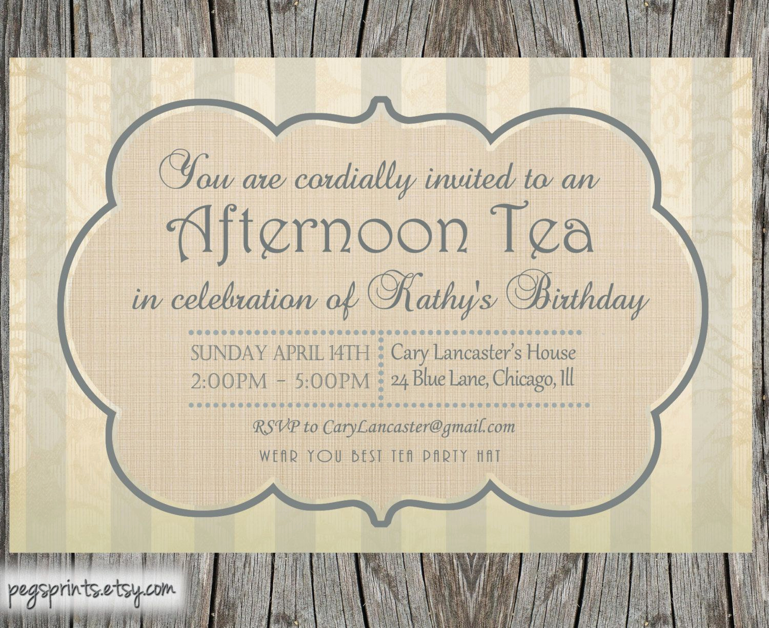 High Tea Invitation Template Best Of High Tea Invitation Template Party Idees