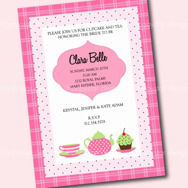High Tea Invitation Template Fresh High Tea Invitation Template