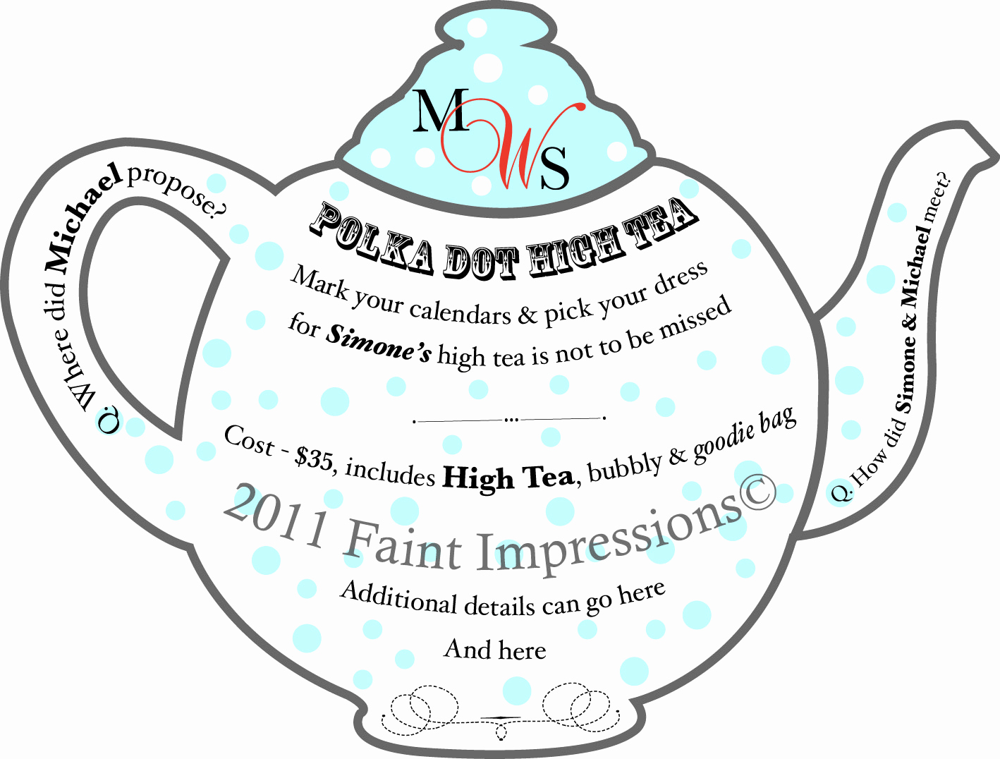 High Tea Invitation Template Unique Free Printable afternoon Tea Invitations