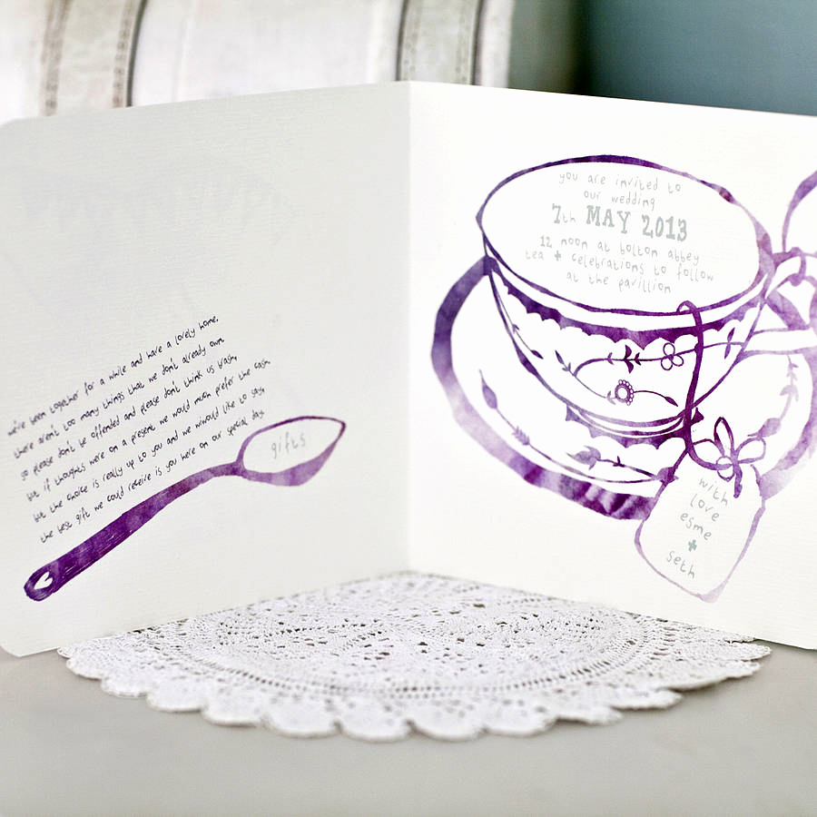 High Tea Invitation Wording Awesome afternoon Tea Wedding Invitation by Julia Eastwood