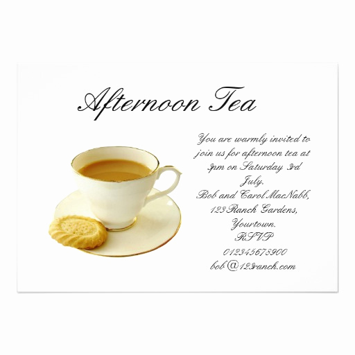 High Tea Invitation Wording Beautiful afternoon Tea 13 Cm X 18 Cm Invitation Card