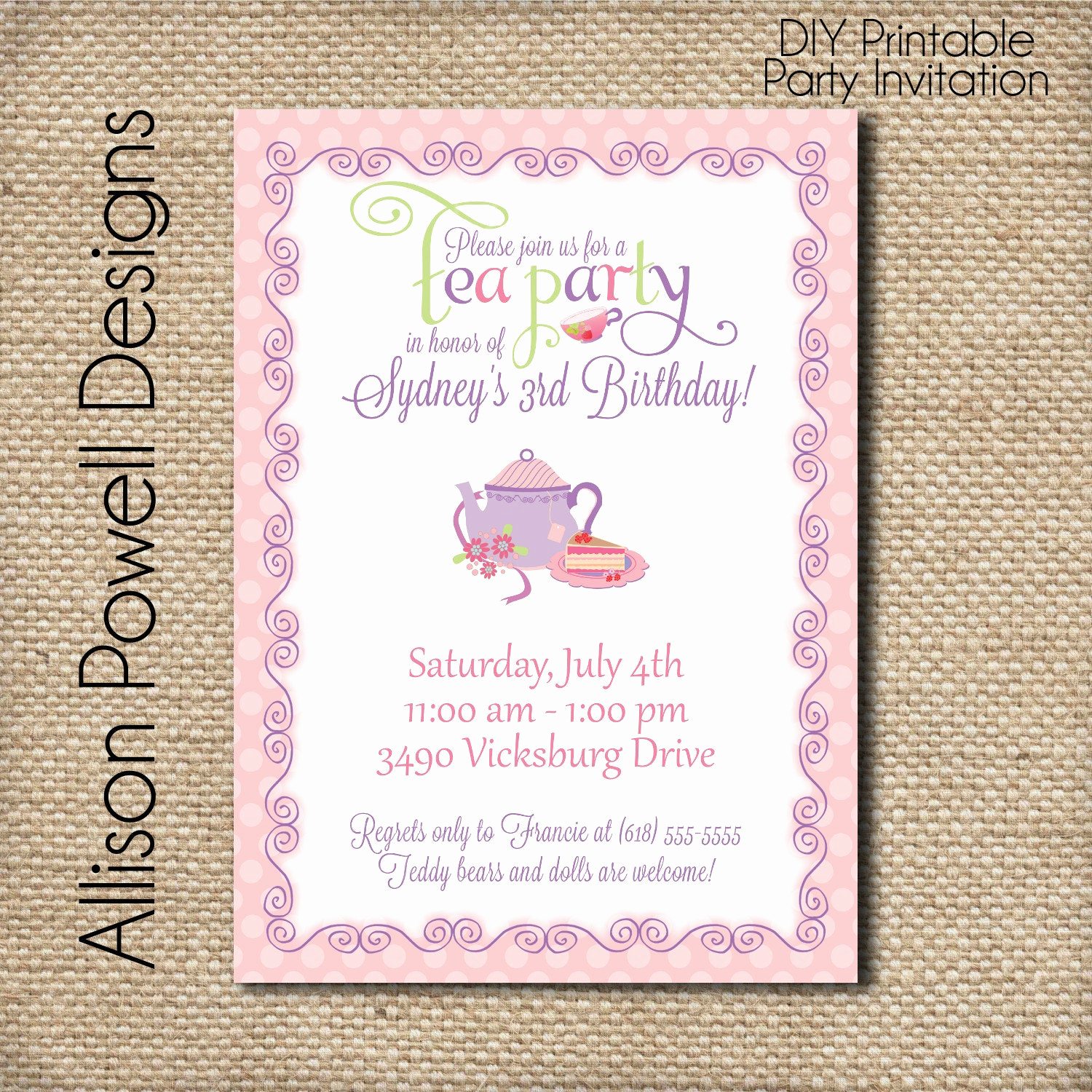 High Tea Invitation Wording Best Of Tea Party Invitation afternoon Tea Cup Of Tea Custom