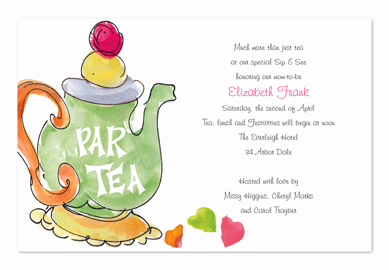 High Tea Invitation Wording Fresh Partea Birthday Invitations by Invitation Consultants