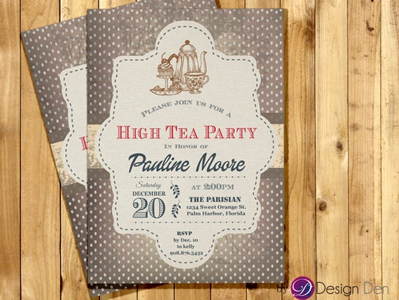 High Tea Invitation Wording New Adult Tea Party Invitation for Woman High Tea Party