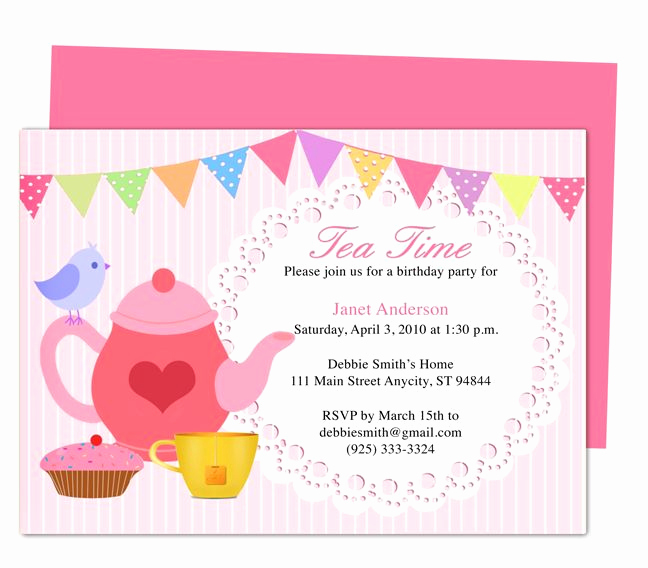 High Tea Invitation Wording Unique afternoon Tea Party Invitation Party Templates Printable