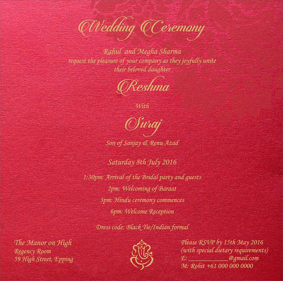 Hindu Wedding Invitation Wording Beautiful Wedding Invitation Wording for Hindu Wedding Ceremony