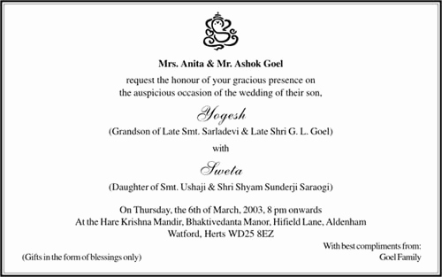 Hindu Wedding Invitation Wording Best Of Hindu Wedding Invitation Card Wordings Parekh Cards