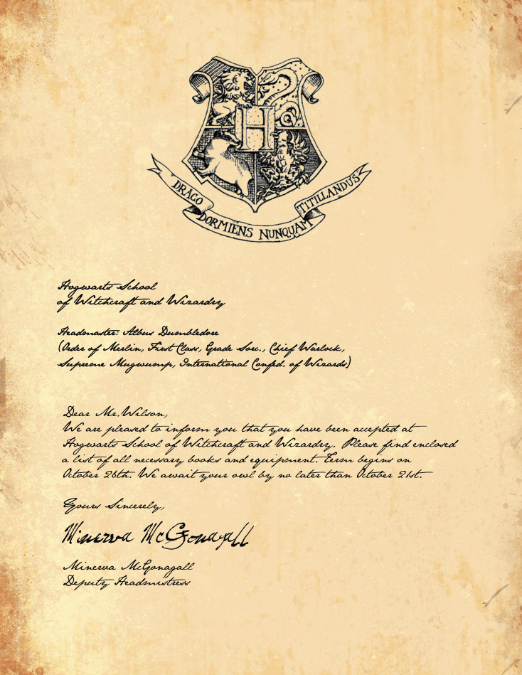 Hogwarts Birthday Invitation Template Awesome Free Printable Hogwarts Invitation Template