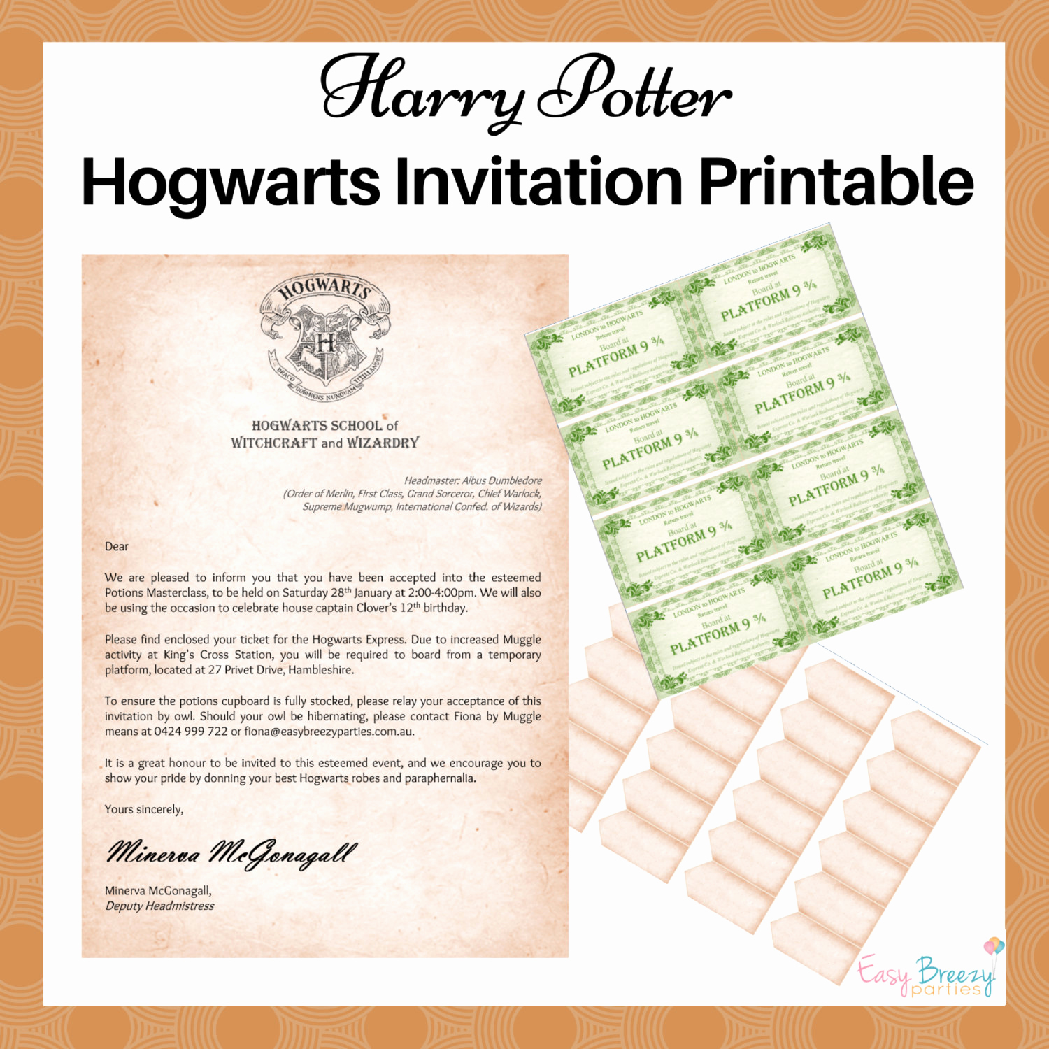 Hogwarts Birthday Invitation Template Beautiful Harry Potter Invitation Editable File Potions Masterclass