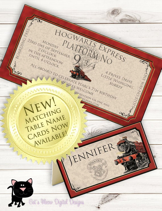 Hogwarts Birthday Invitation Template Best Of Hogwarts Harry Potter Birthday Invitation Printable