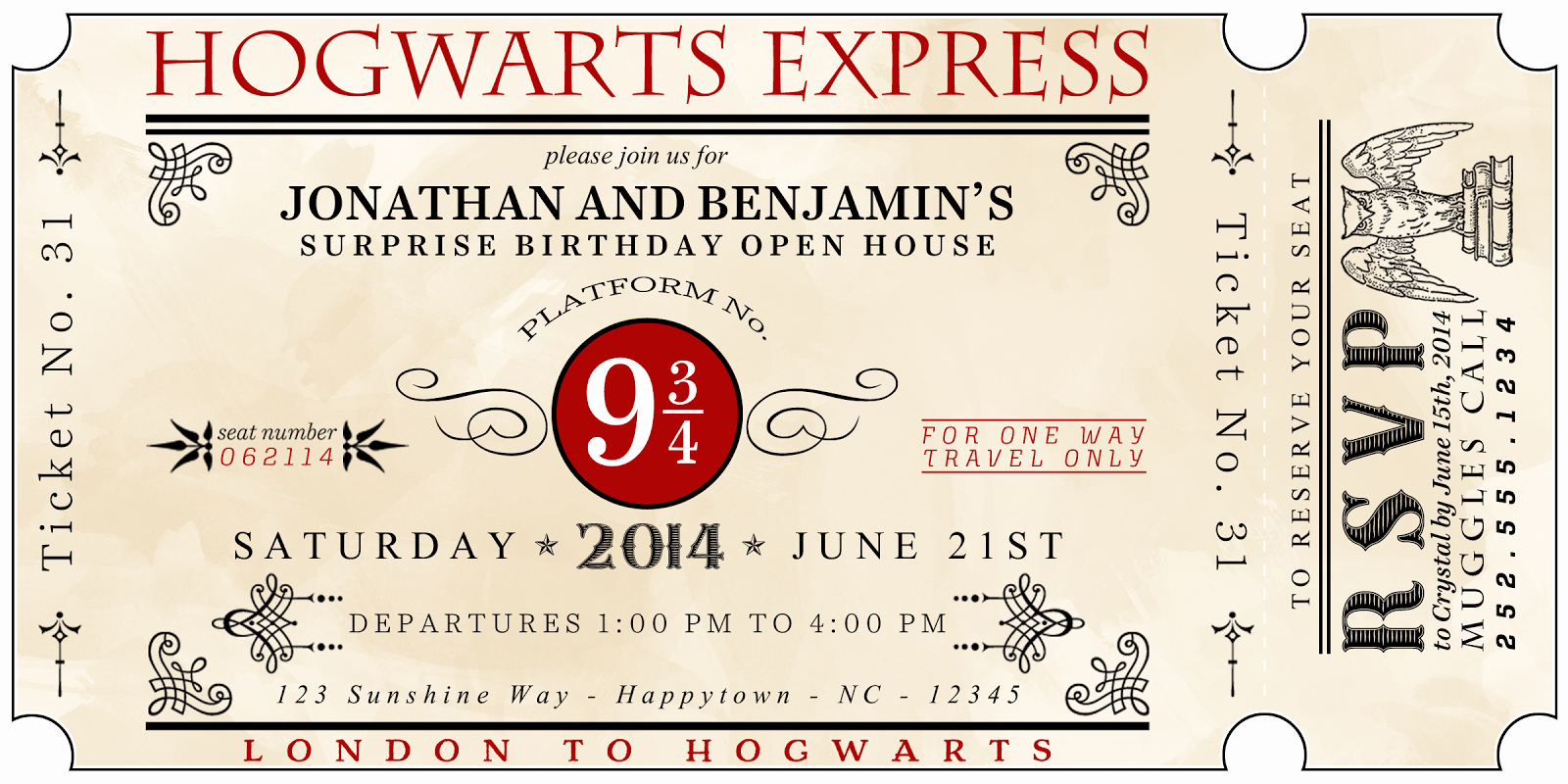 Hogwarts Birthday Invitation Template Inspirational A Well Feathered Nest Harry Potter Party the Invitations