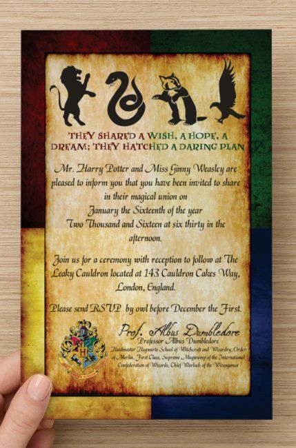 Hogwarts Birthday Invitation Template Luxury 50 Custom Harry Potter Hogwarts House Invitations & Rsvp