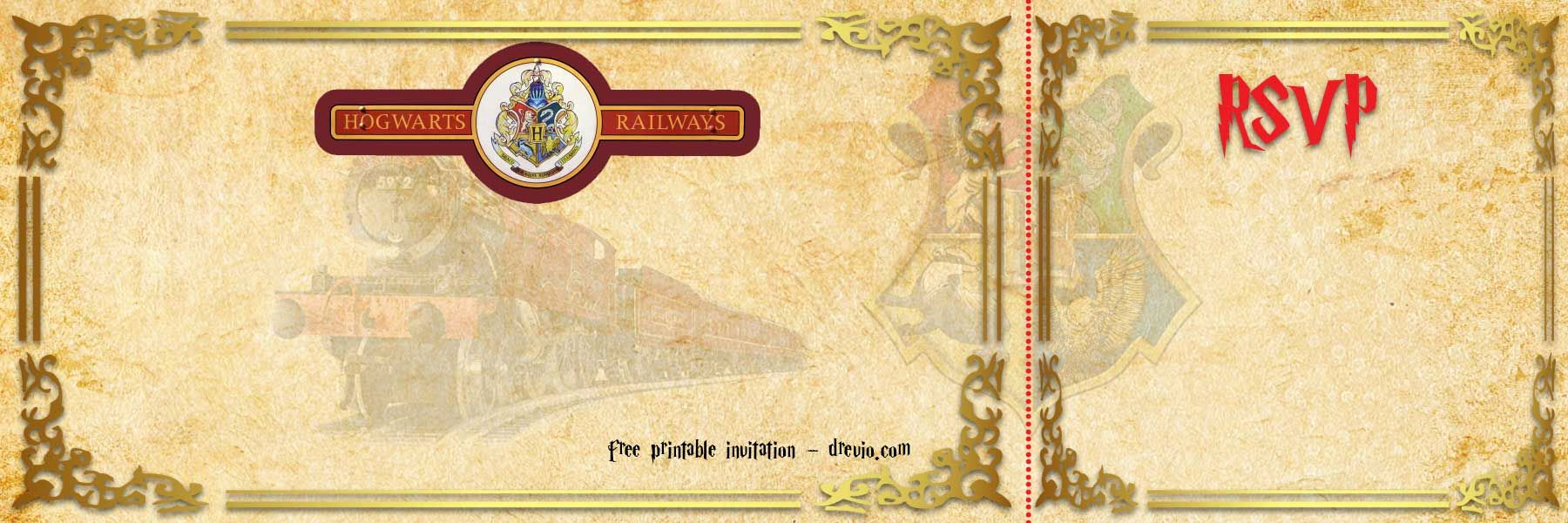 Hogwarts Birthday Invitation Template Luxury Free Printable Hogwarts Express Ticket Invitation Template