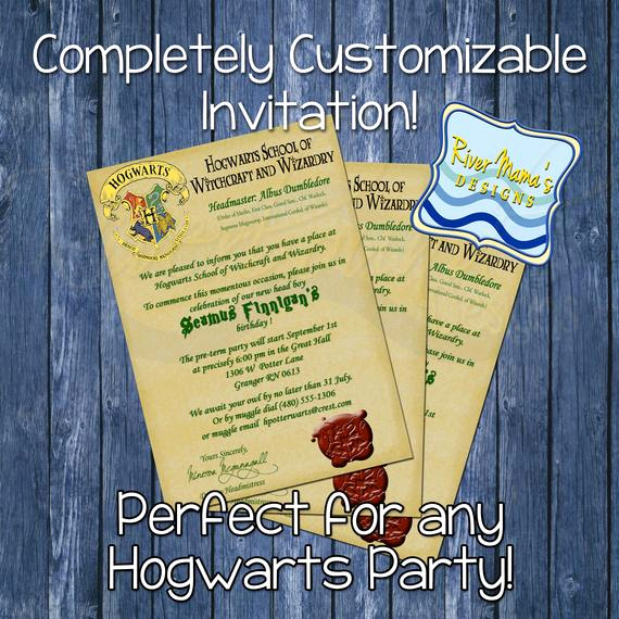 Hogwarts Birthday Invitation Template New Printable Birthday Invitation Hogwarts Letter by