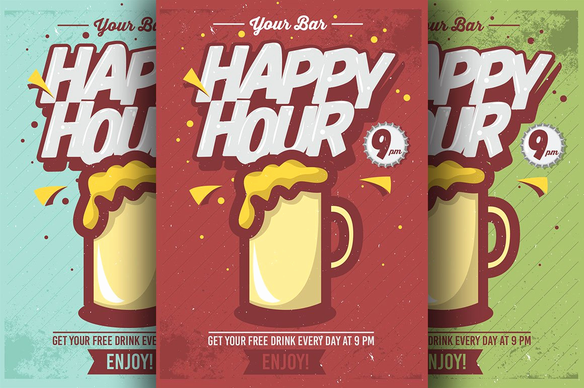 Holiday Happy Hour Invitation Awesome Ic Happy Hour Flyer Templates Flyer Templates