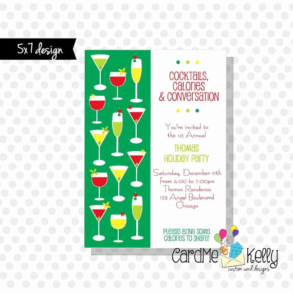 Holiday Happy Hour Invitation Fresh Printable 5x7 Holiday Cocktail Drinks Happy Hour Party